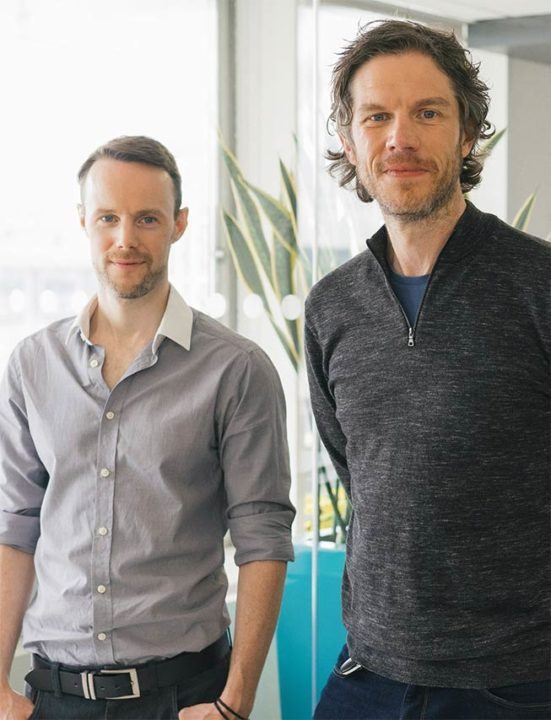 Claimer's founders Adam and Andrew